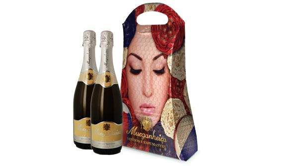 Bolsa Para Duas Garrafas de Vinho Impressa