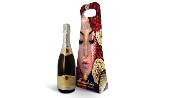 Bolsa para Garrafa de Vinho com Impressao