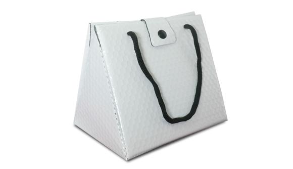 Bolsa triangular termica branca