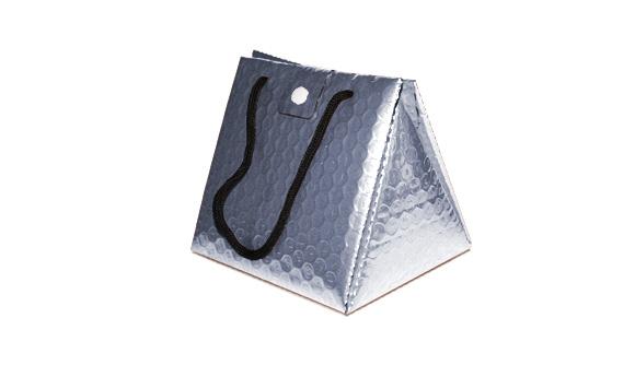 Bolsa triangular termica cinzenta