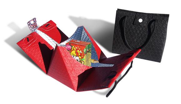 Bolsa triangular termica vermelha