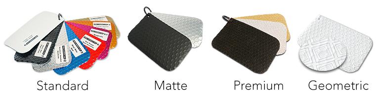Caixa rectangular metalizada cores disponiveis