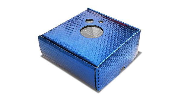 Caixa termica para queijo azul