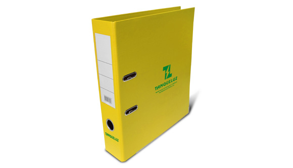 comprar pasta de arquivo personalizada amarela