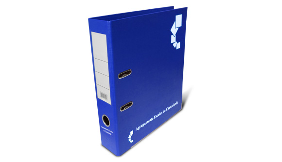 comprar pasta de arquivo personalizada azul