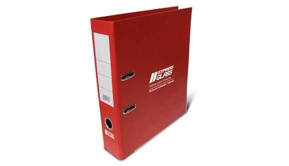 comprar pasta de arquivo personalizada vermelha