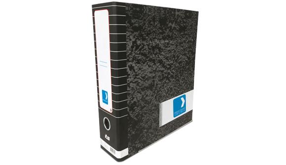 pasta de arquivo personalizada marmoreada larga provelement
