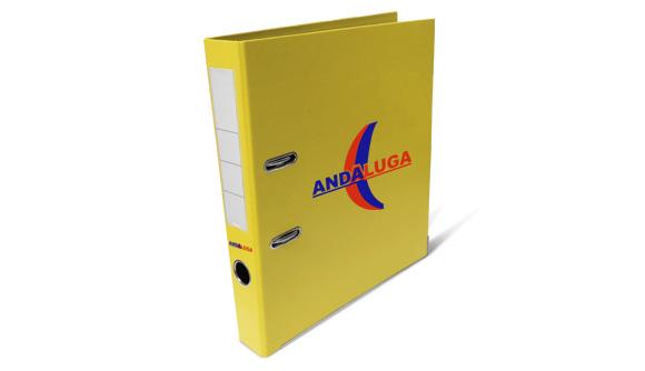 pasta de arquivo personalizada pvc amarela