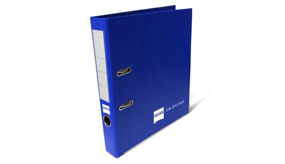 pasta de arquivo personalizada pvc azul