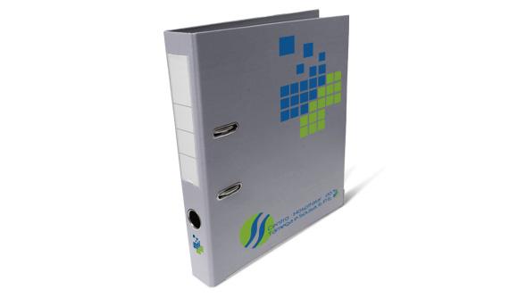 pasta de arquivo personalizada pvc cinza