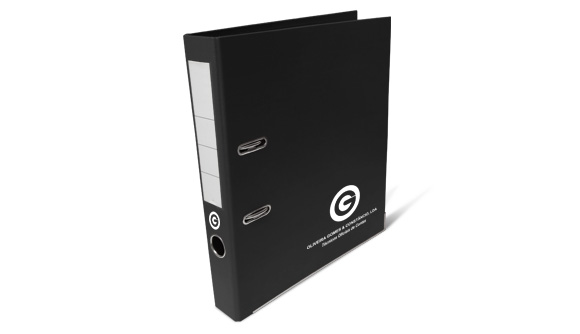 pasta de arquivo personalizada pvc preta