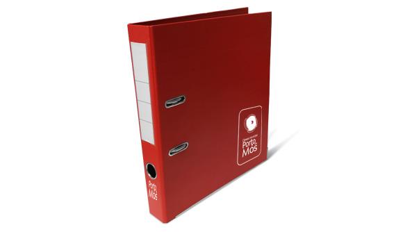 pasta de arquivo personalizada pvc vermelha