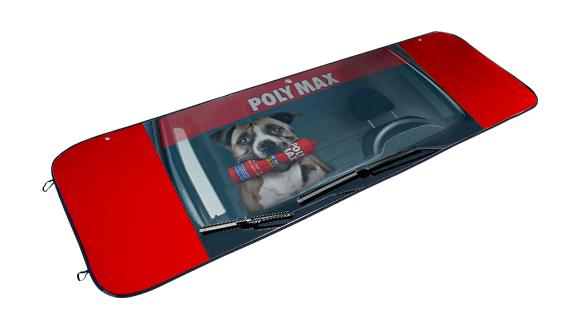tapasol publicitario para camiao polimax