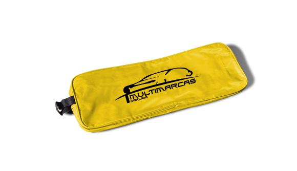 bolsa nylon kit de emergencia para viaturas amarela