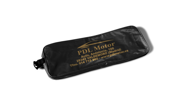 bolsa nylon kit de emergencia para viaturas negra