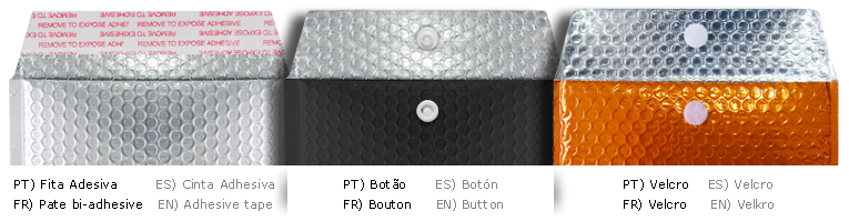 envelope metalizado 32 por 43 cm fechos disponiveis