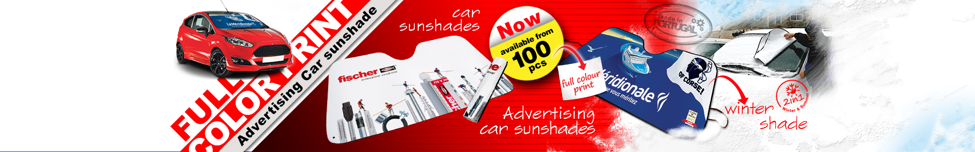 Advertising car sunshade digital printing
