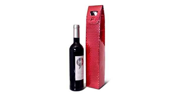 Bolsa Metalizada para Garrafa de Vinho