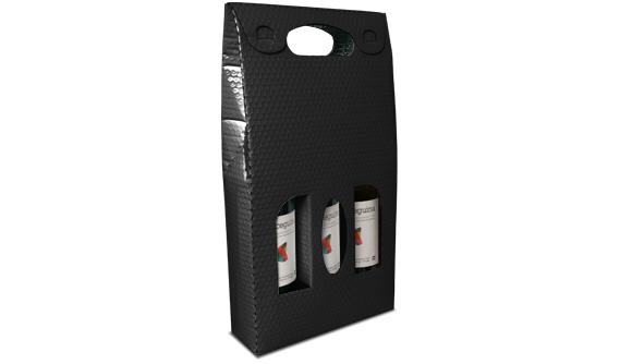 bolsa metalizada para tres garrafas de vinho 2