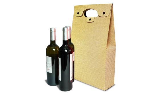 Embalagem para três Garrafas de Vinho 75*215*420 mm
